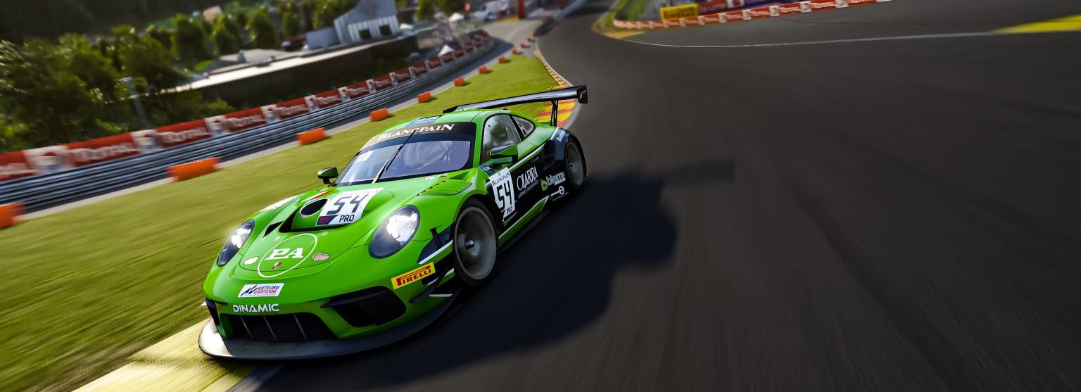 Foto de GT3 em competição de Sim Racing - SRW Calendar - Digital Spirit
